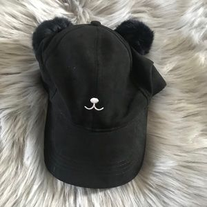 2f45d2ef82b0a NWOT David and Young Pom Ears Cat Bunny Hat Black
